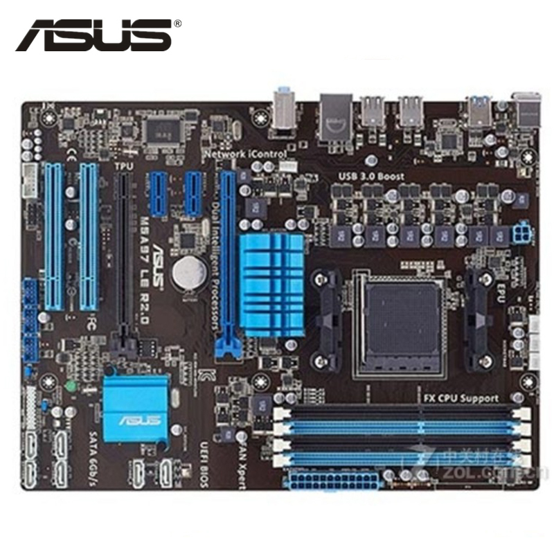 ASUS M5A97 LE R2.0 Motherboard Socket AM3+ DDR3 32GB For AMD 970 M5A97 LE R2.0 Desktop Mainboard Systemboard SATA III Used m5a97 le r2 0