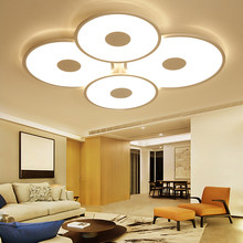 Modern Led celling light Living Room Bedroom Children room plafond led avize AC85-265V White Surface mount ceiling lighting(China)