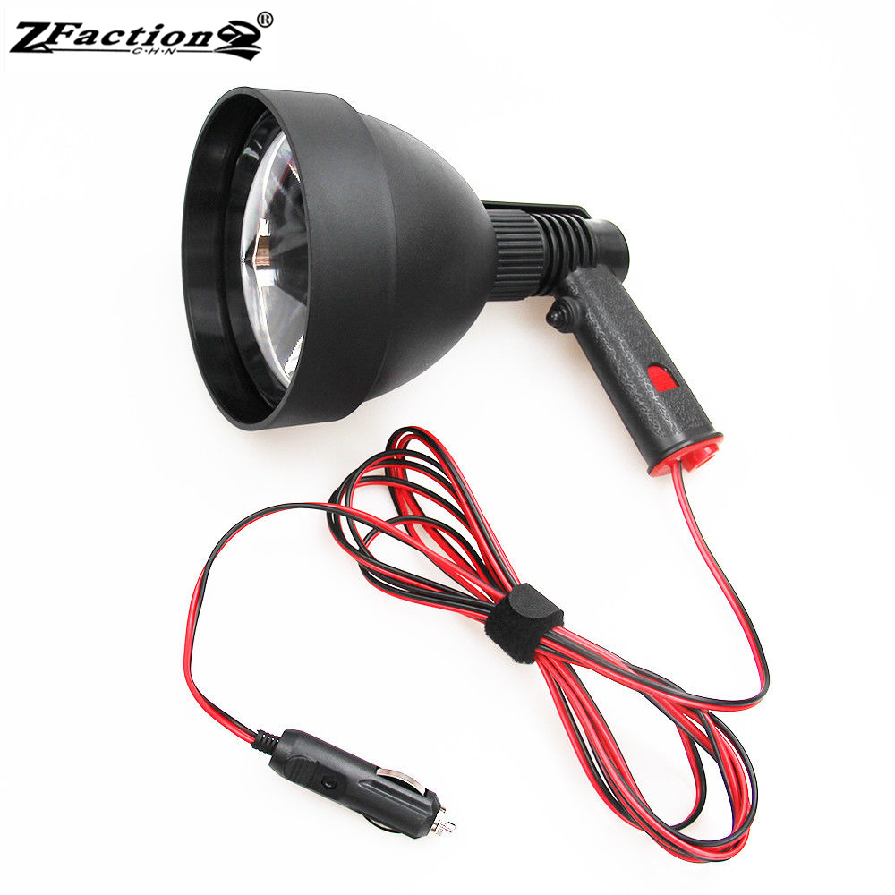 Powerful USA Imported CREE 25W LED Hunting Lights 2500LM 150MM Hunting Lamp Portable Spotlight With Female Plug 7Ah Battery Bags