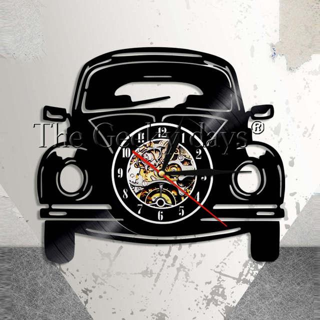 Retro Car Wall Clock Classic Automobile Vinyl Record Clock Modern ...