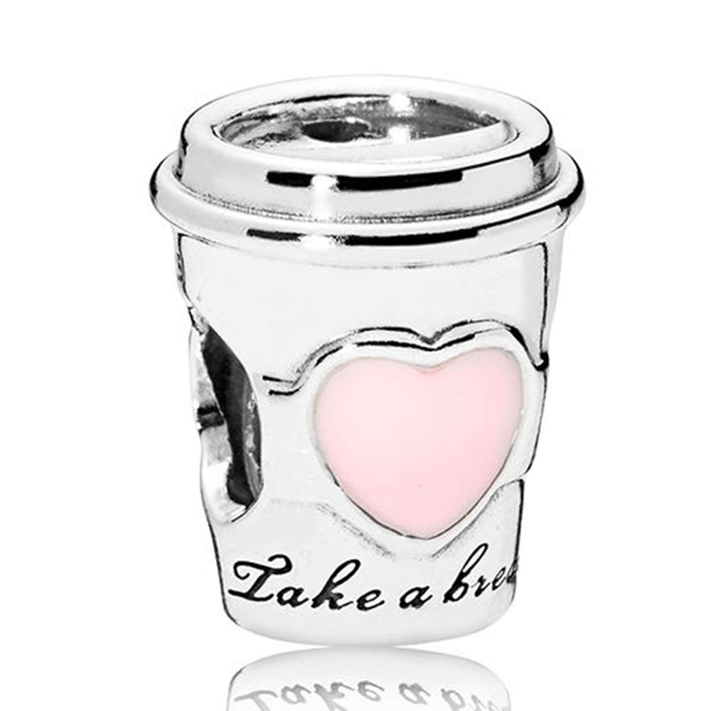 Drink To Go Charm 100% Real 925 Sterling Silver Cup Beads Charms Fit Original Bracelet Diy JewelryDrink To Go Charm 100% Real 925 Sterling Silver Cup Beads Charms Fit Original Bracelet Diy Jewelry