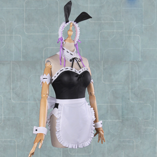 Ram/Rem Cosplay Re: Life Bunny Girl Sexy Bodysuit Cosplay Costume Maid Dress Uniform Outfit for Women Girl In a Different World 3