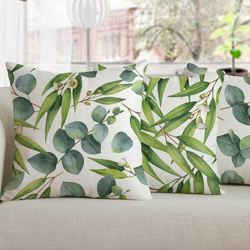 2018 New Arrival Garden Decoration Flower Pillow Green Plant Leaves Leaf Cushions Home Decor For Living Room Chair Free Shipping