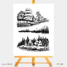 AZSG Goodly Landscape Clear Stamps/Stamp/For Scrapooking/Card Making/Silicone Stamps/Decoration Crafts