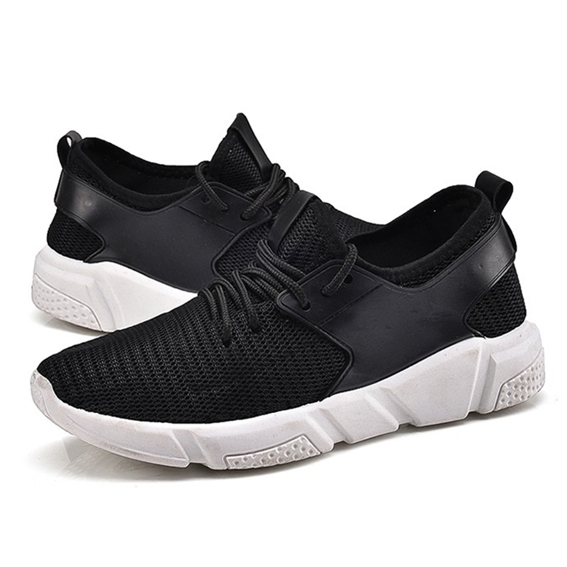 Casual Shoes Men Breathable Fly Weave Lace-up Flat Shoes Comfortable Soft Super Light Autumn Fashion Couple Shoes H494 35