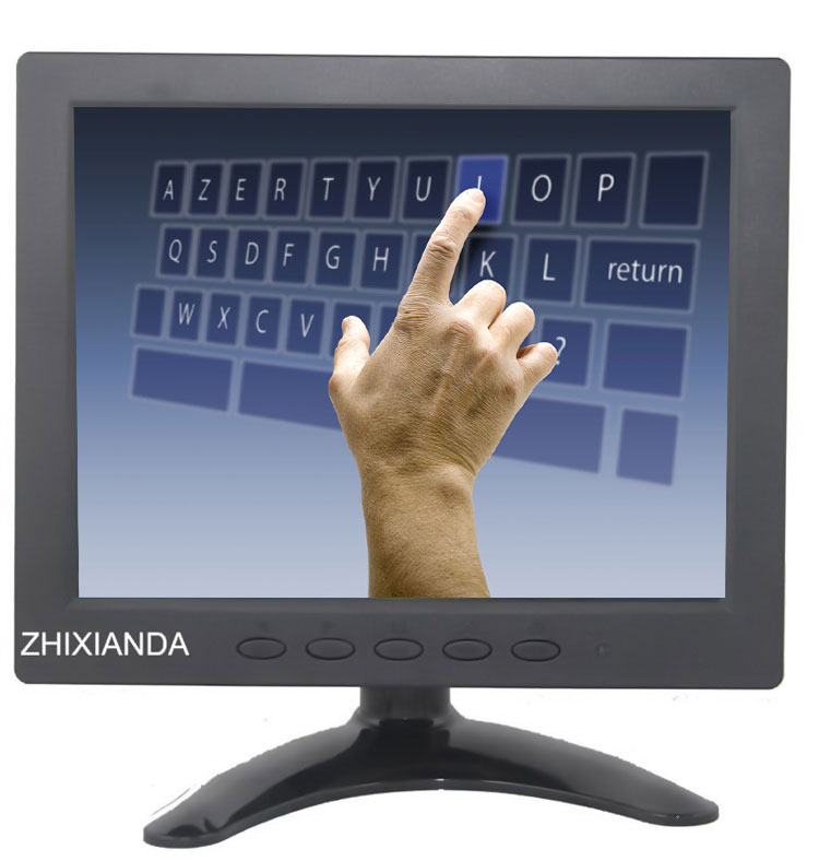 8 inch 1024*768 LCD monitor touch monitor Computer monitors with VGA/USB input LED digital screen