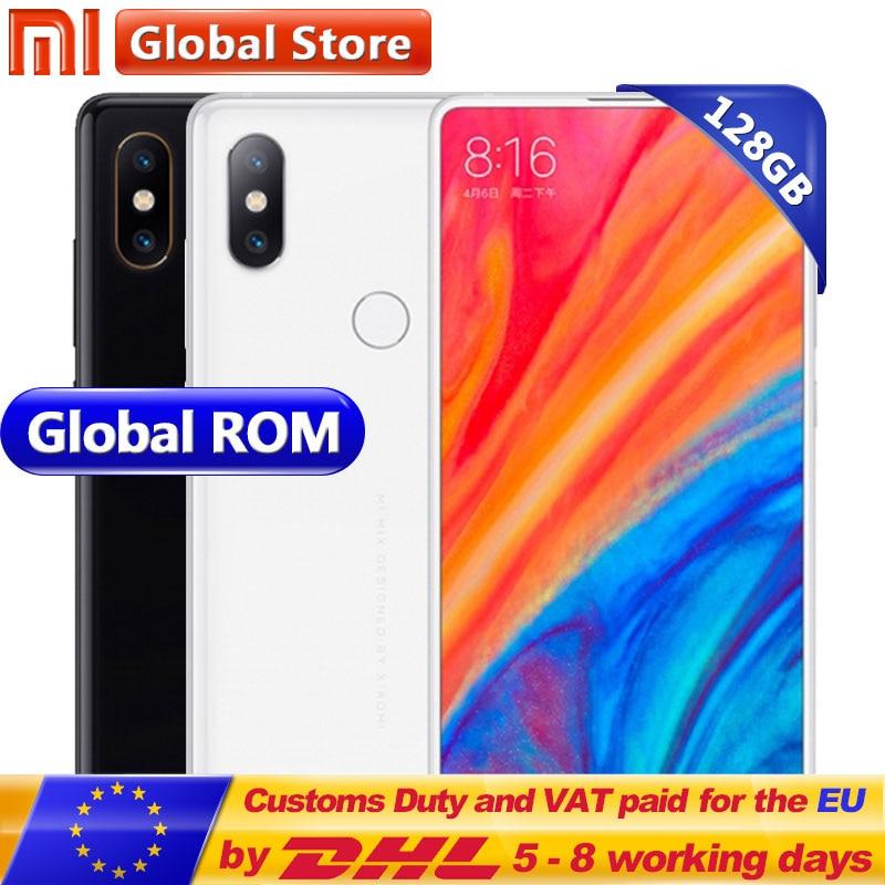 Origine Xiao mi mi mi X 2 s 6 gb 128 gb Snapdragon 845 Octa Noyau Mobile Téléphone 3400 mah 5.99 2160*1080 Plein Écran Double 12.0MP Caméras