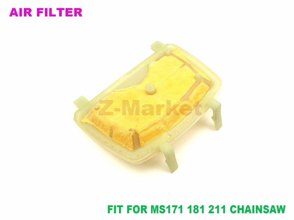 Chainsaws Air Filter Bar Nuts Studs Kit Fit Stihl Ms211 Ms181 Ms171 Ms181c Ms211c S200 Gas Saw Chainsaw Parts 1139 120 1602 Garden Tools