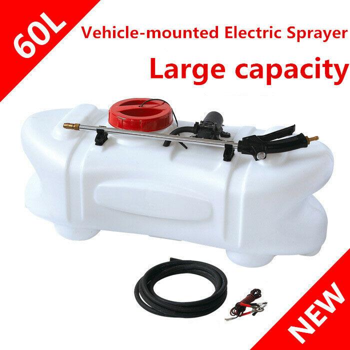60L ATV Weed Sprayer 12V Pump Driven Tank Garden Farm Spray Boom Spot for Farm