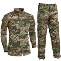 Military Uniform Shirt+Pants Military Army Suit Thick Cotton Camouflage Suits Python Field Camouflage Combat Uniforms CS Field