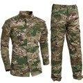 Traje de Camisa + Pantalones de Uniforme militar Del Ejército Militar Gruesa de Algodón Trajes de Camuflaje Python Campo Camuflaje Uniformes de Combate CS Campo