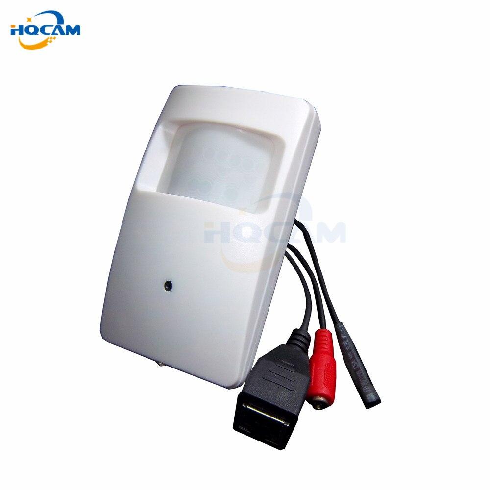 Hqcam 720 P pir детектор движения мини IP Камера onvif2.0 PIR Стиль Камера тайное ПИР IP Камера безопасности Камера микрофон hi3518e