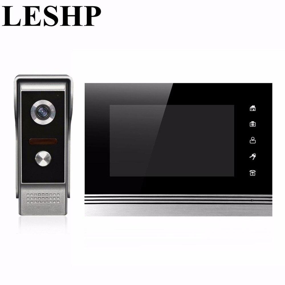 Leshp 7 TFT дверь Мониторы Видеодомофоны домашний телефон двери Регистраторы Системы разблокировать Дверные звонки Камера поддерживается Вод...