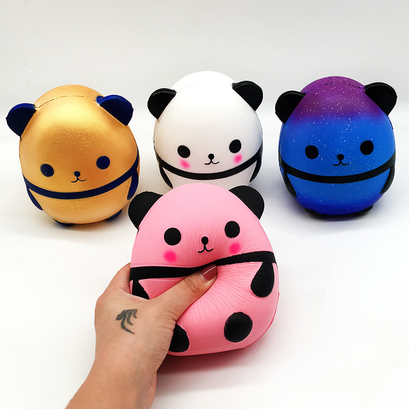 15CM Jumbo Kawaii Panda Squishy Slow Rising Creative Animal Doll Soft Squeeze Toy Bread Scent Stress Relief Fun Kids Xmas Gift
