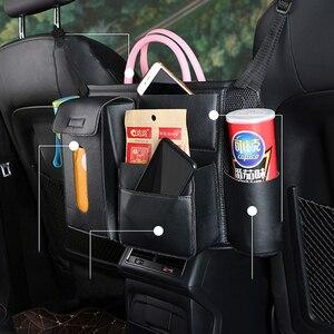 Image 5 - 1X רכב מושב אחסון ארגונית תיק אוניברסלי עור מפוצל תכליתי אחסון תיבת פנים Stowing לסדר אוטומטי ארגונית Box