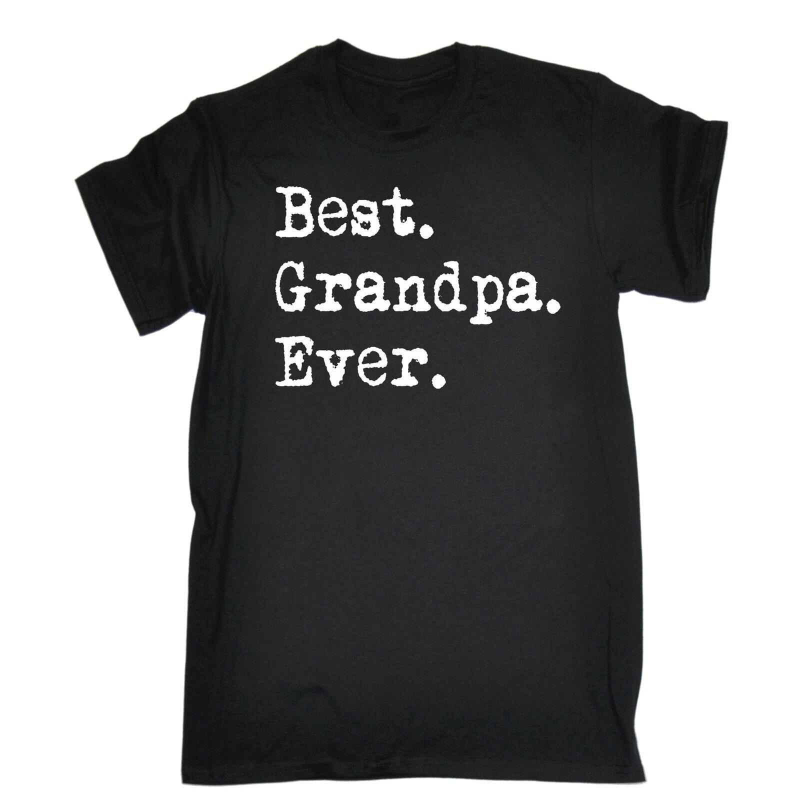 Best дедушка Футболка кроя смешной подарок на день рождения 123 т подарок для Него Лето Рубашка с короткими рукавами модная футболка