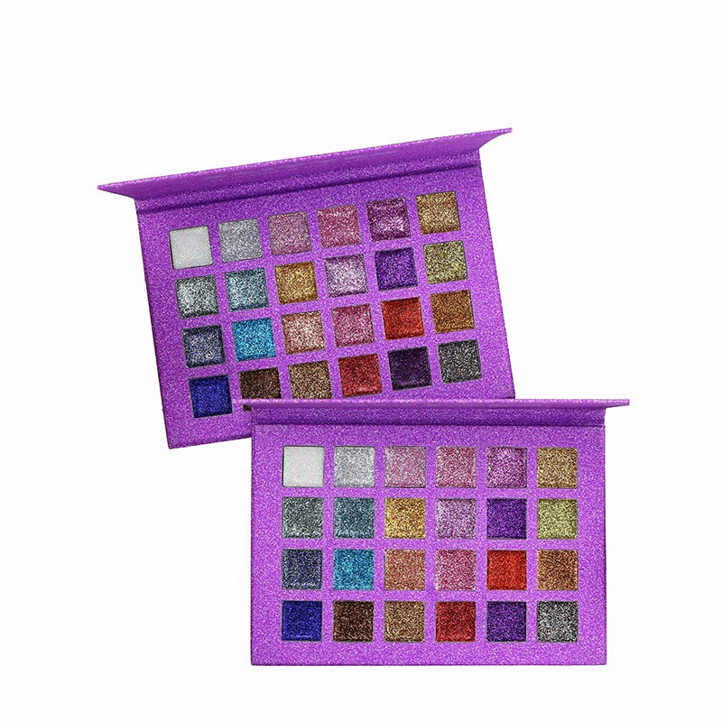 24 Colors Beauty Make Up Diamond Metallic Makeup Eye Shadow Palette Shiny Sequins Eyeshadow Shimmer Cosmetics R4 Refreshing And Enriching The Saliva Beauty & Health