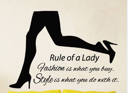 2015 shoe shop vinyl wall decal beauty girl legs rule of a lady mural art wall - Shop Bedroom Decor