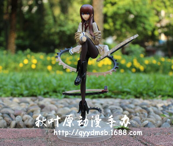 22cm Steins Gate Makise Kurisu 1/8 Scale Action Figures PVC brinquedos Collection Figures toys for christmas gift wtih box