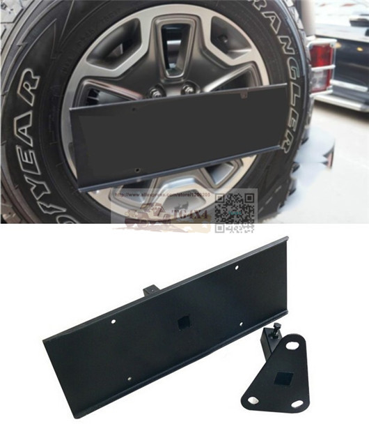 OEM Spare Tire Rear Licence Plate For Jeep Wrangler JK Rear Licence Rack  Spare Tire Rack Licence Bracket Frame Free Shipping In License Plate From  ...