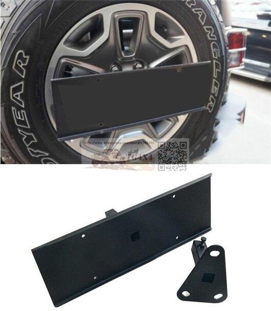 Oem запасное колесо заднего номерного знака для Jeep Wrangler JK заднего номерного знака стойки запасное колесо стойки лицензии кронштейн рамы бесплатная доставка