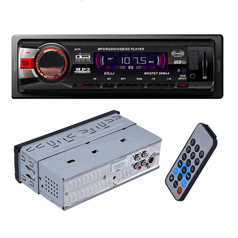 Di Dash Mobil Bluetooth FM Player Audio Stereo MP3 AUX Input Receiver Dengan SD USB Preset 18 Stasiun Tinggi kualitas Mobil MP3 Pemain
