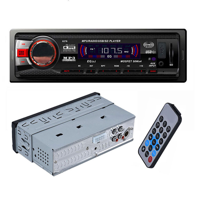 In Dash Car Bluetooth FM AM Player Audio Stereo MP3 Aux Input Receiver with SD USB Preset 18 Station High Quality Car MP3 Player