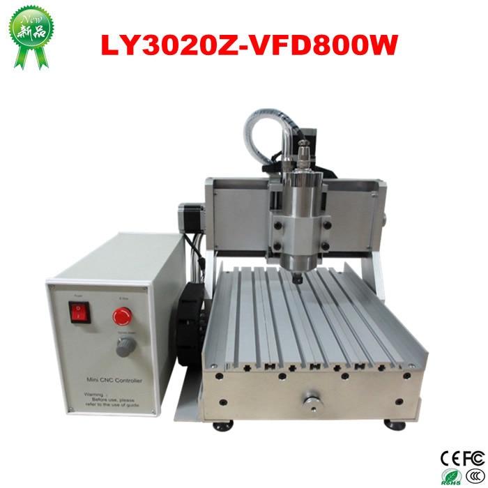 России нет налога! ЧПУ машина LY 3020 Z VFD 800 Вт 3 оси фрезерный станок для обработки дерева ручной работы