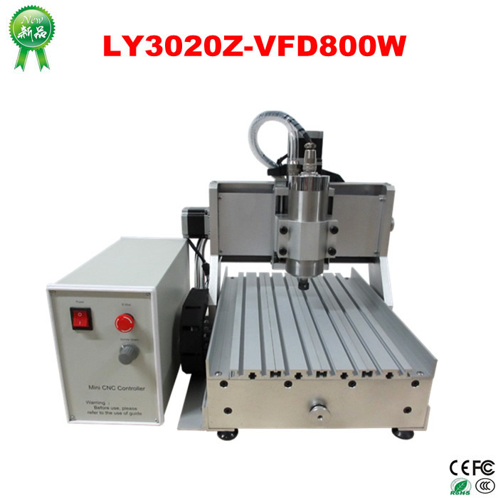 Russia no tax! cnc router machine LY 3020 Z-VFD 800W 3 axis cnc milling machine lathe for wood working craft work Russia no tax! cnc router machine LY 3020 Z-VFD 800W 3 axis cnc milling machine lathe for wood working craft work