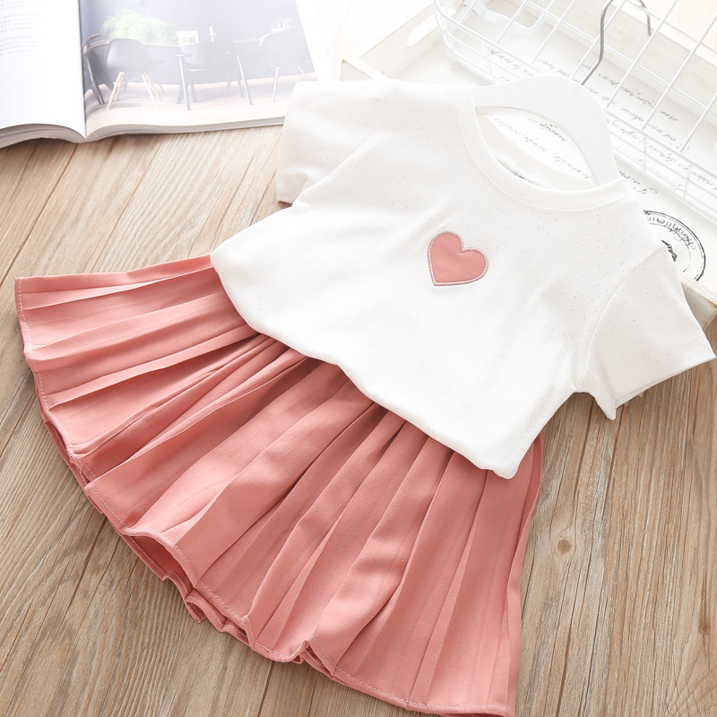 Ladies Costume Go well with Children Clothes Units For Lady Cotton T Shirt Pleated Skirt Brief Go well with Child Garments Summer season 2Pcs Set Lady Costume Aliexpress, Aliexpress.com,...