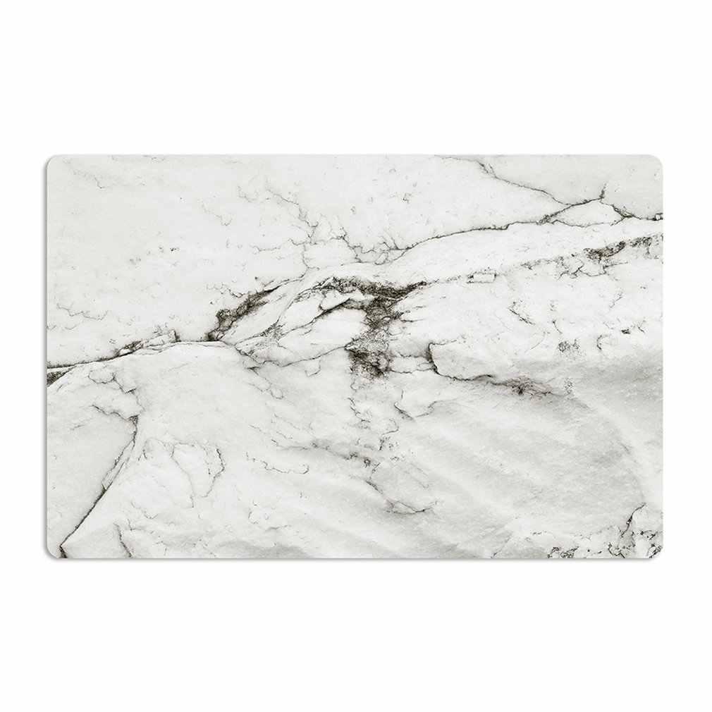 2PCS/SET Marble Pattern Anti-Slip Heat Insulated PVC Dining Table Kitchen Coffee Tea Place Mat Tableware Pad Mat