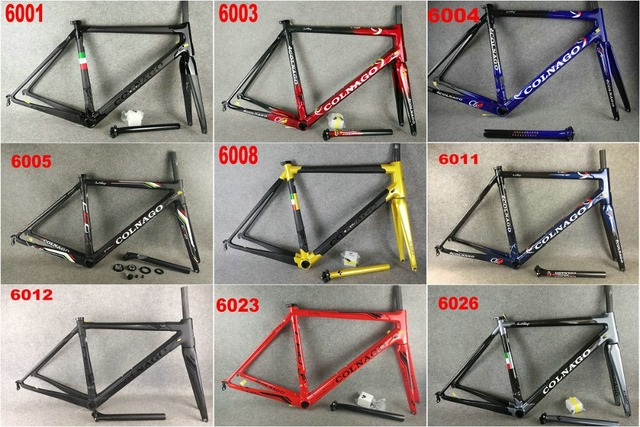 01c1d46104e 28 colors Colnago C60 c64 frame Carbon Bicycle frameset Road Bike Frame  bicycle glossy frame set