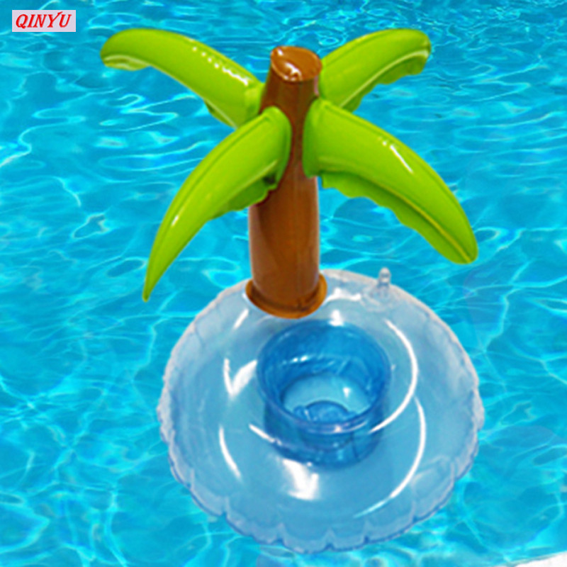 Palm Tree Inflatable Pool Coaster Water Floating Drink Coke Cup Holder Stand Station Swimming Bath Pool Drink Coasters 5zhh019 Cool In Summer And Warm In Winter Event & Party