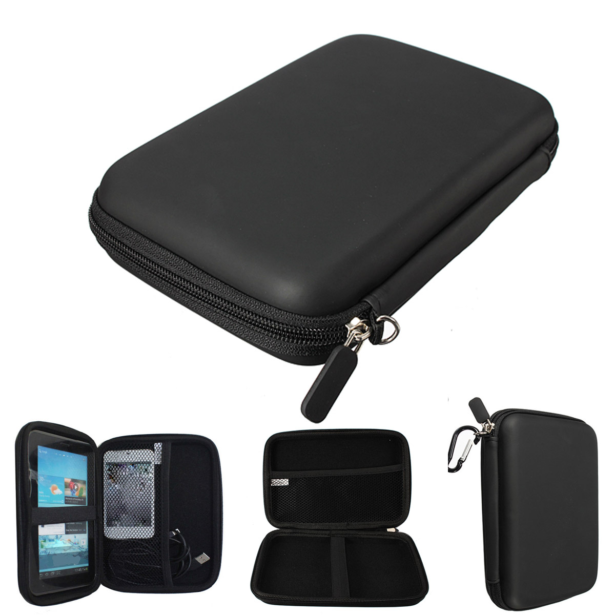 GPS Navigation Protection Package Hard Disk Drive HDD Tablet Cover Bag PU Hard Shell Carry Case Bag Cover Protector 7 Inches
