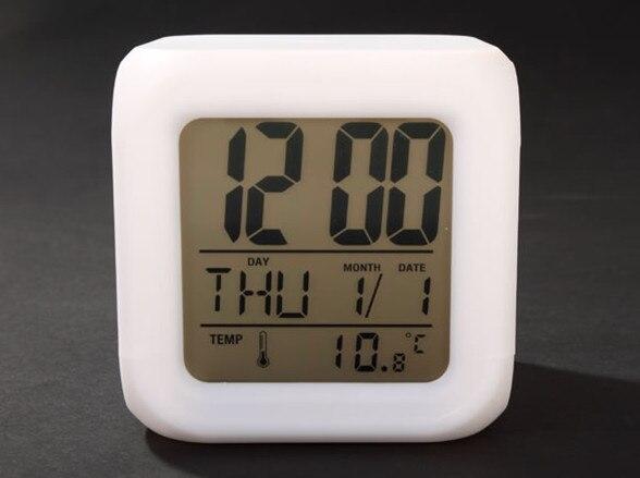 Japanese Anime EVA Neon Genesis Evangelion 7 Color Change Glowing Alarm Clock
