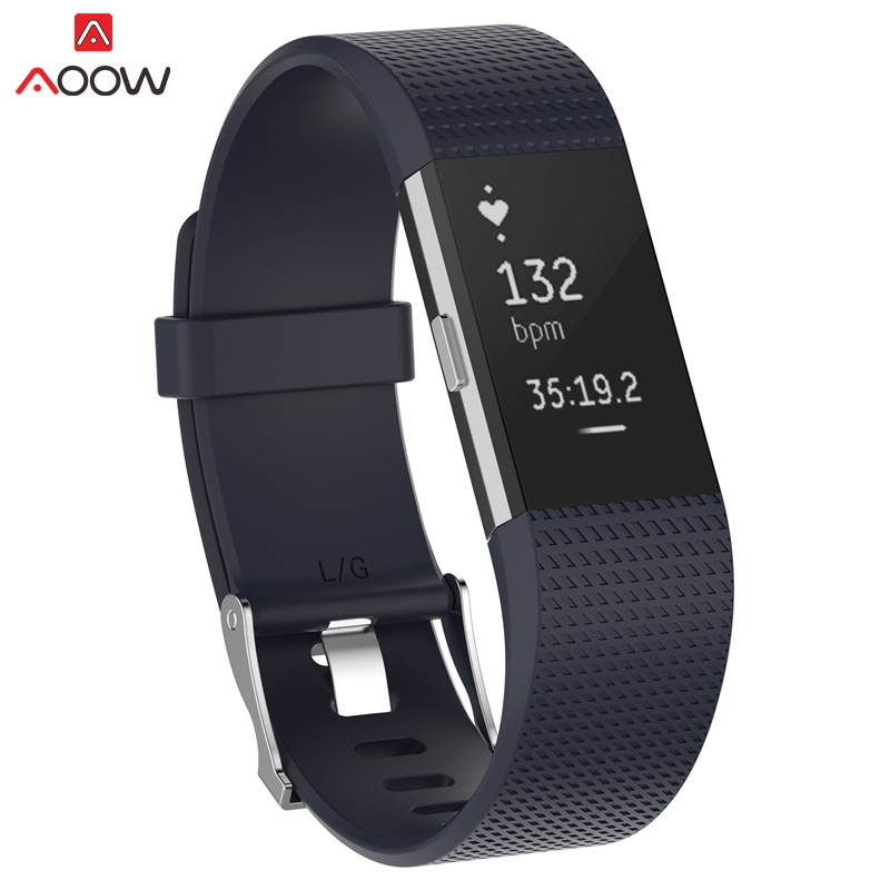 AOOW Smart Bracelet Band For Fitbit Charge 2 Soft Silicone Replacement Sport Watchband Watch Strap For Fitbit Charge2 S/L Size