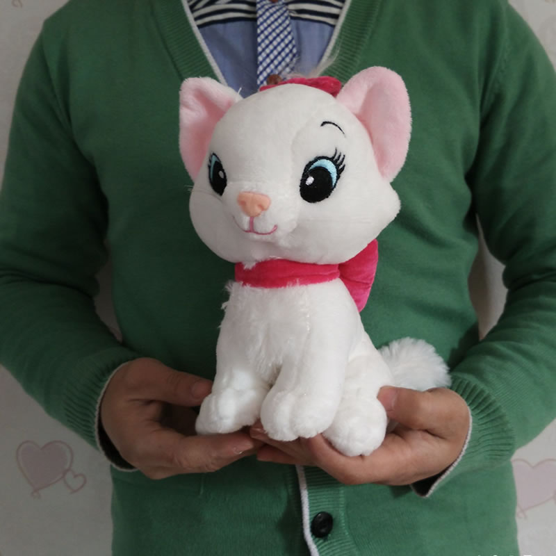 Free Shipping 22cm=8.7'' The Aristocats cat plush toys Marie cat Animals Stuffed plush dolls Soft toys for baby gift