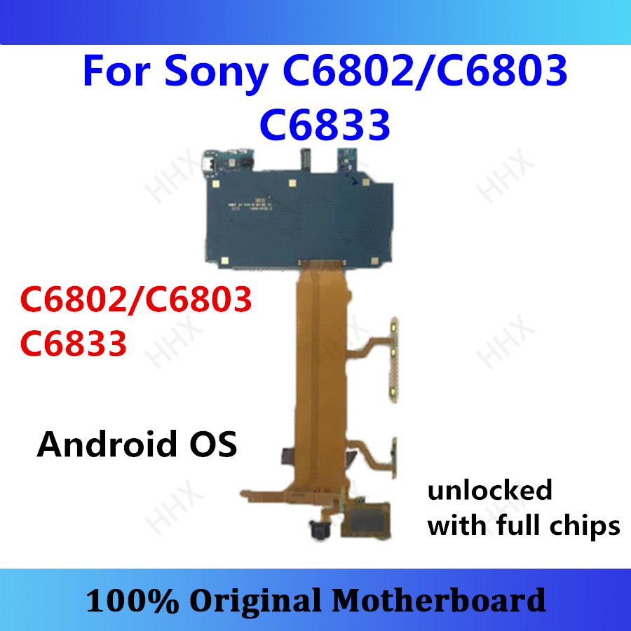For Sony Xperia Z Ultra Xl39h C6802/C6803 C6833 Motherboard Unlocked Mainboard Android Original Card/fee C6802/C6803 C6833 Panel