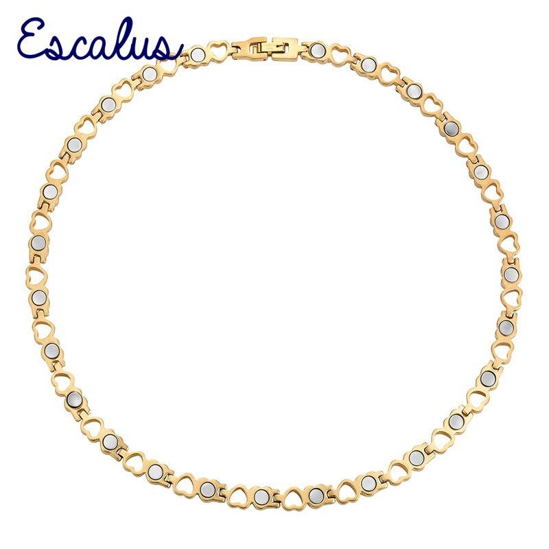 Escalus Frauen Herz Edelstahl Halskette Damen Halsband Schmuck Magnetische Shiny Gold 26 Stücke Magnete Kostenloser Versand Charme GroßE Vielfalt