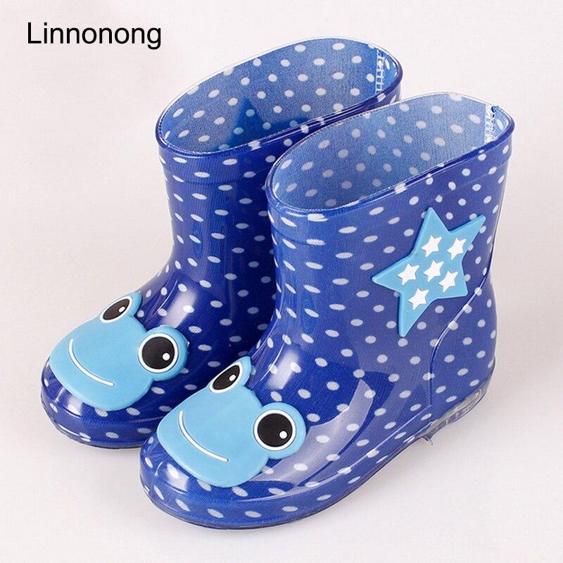 Новинка 2017 года дети дождя Сапоги и ботинки для девочек для Обувь для девочек детские резиновые Сапоги и ботинки для девочек животных ПВХ пр...
