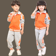 summer children's clothing sports long sleeve chorus of primary students British student school uniforms jacket pant Sweatshirts