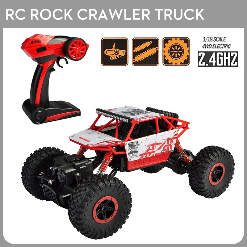 Brand RC Rock Crawler Car 2.4Ghz 1/18 Scale 4WD Off Road