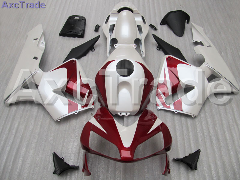 Red White Moto Fairing Kit For Honda CBR600RR CBR600 CBR 600 2003 2004 03 04 F5 Fairings Custom Made Motorcycle Injection Mold gray moto fairing kit for honda cbr600rr cbr600 cbr 600 f4i 2001 2003 01 02 03 fairings custom made motorcycle injection molding