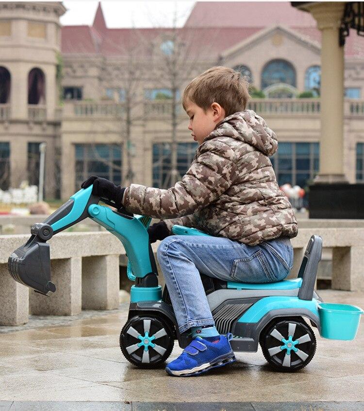 2018 nouvelle pelle électrique pour enfants peut monter à la voiture bébé Scoop voiture batterie électrique Rechargeable tour sur jouets
