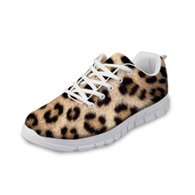 NOISYDESIGNS 3D Animal Fur Pattern flat Shoes Woman Autumn Summer Casual Lace-up for Women Ladies Breathable Flat