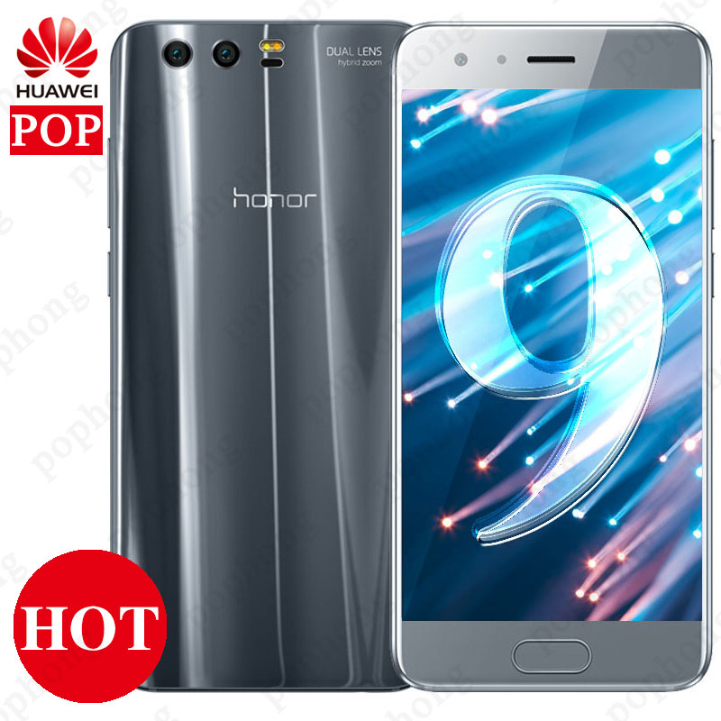 Global ROM 5 15 Huawei Honor 9 4G 6G RAM 64G 128G ROM Android 7 0
