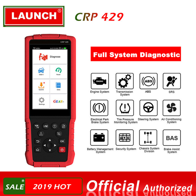 LAUNCH CRP429 OBD2 Diagnostic Scan Tool All System Diagnoses Service Functions of Oil Reset,EPB,BMS,SAS,DPF,Injector Coding,IMMO
