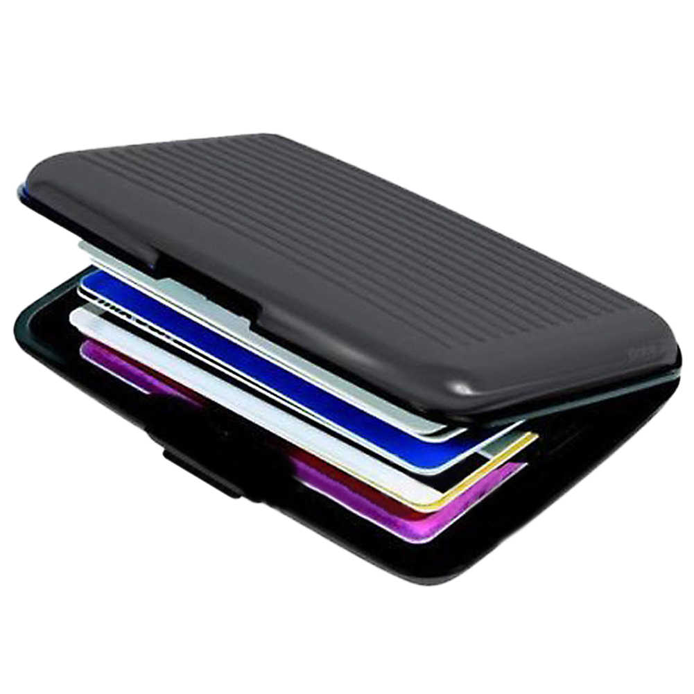 Waterproof ID Credit Card Wallet Holder money Wallet Purse Case Antimagnetic Aluminum Cards bag Business Credit Card Metal case