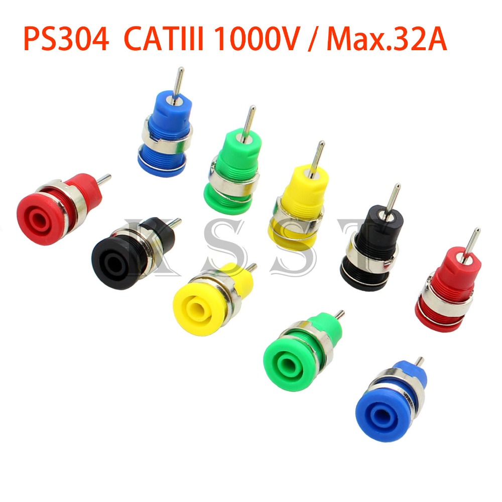 PS304 High Pressure Safety 4mm Panel Banana Socket 1.9mm PCB Pin Welding Panel Scocket
