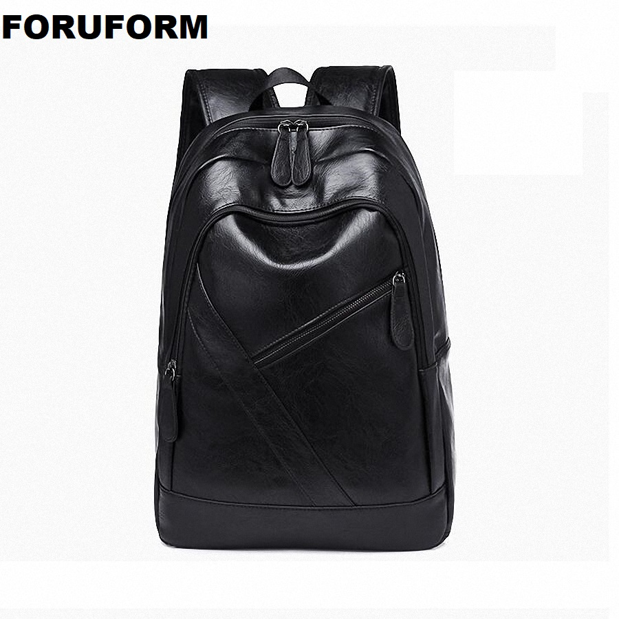 Lower Price with Backpacks For Men Bag Pu Black Leather Mens Shoulder Bags Fashion Male Business Casual Teenage School Bag Brown Li-2500 Men's Bags